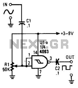 Sine Wave To Square Wave Converter Circuit