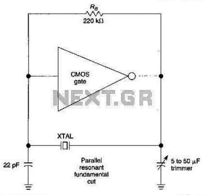 Crystal Oscillator Circuit - schematic