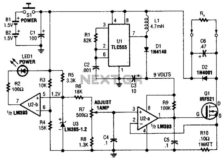 Current Source For Resistance Measurements Circuit