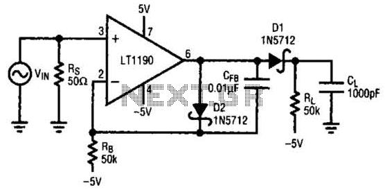 Open-Loop Peak Detector Circuit - schematic