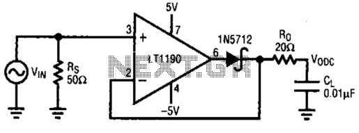 Closed-Loop Peak Detector Circuit - schematic