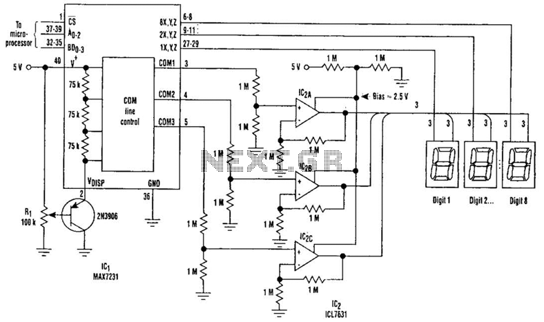 Large Lcd Display Buffering Driver Circuit - schematic