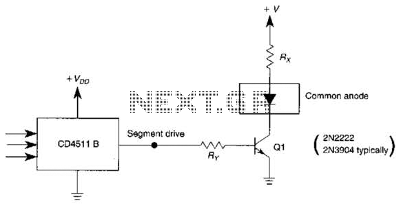 4511B Common-Anode Display Driver Circuit