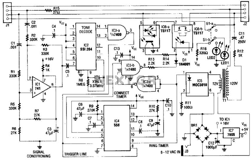 Fax Mate Circuit - schematic