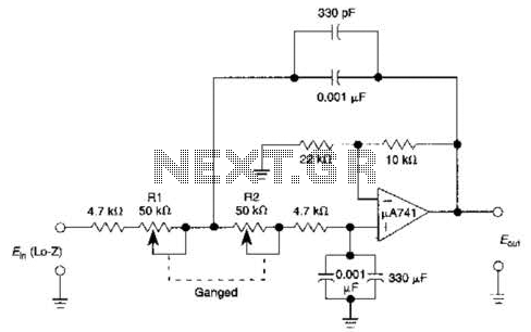 Variable Low-Pass Filter Circuit