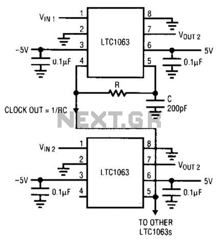 5-Pole Low-Pass Filter Circuit - schematic