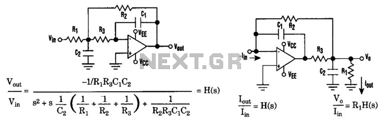 Current-Driven Sallen Key Filter Circuit - schematic