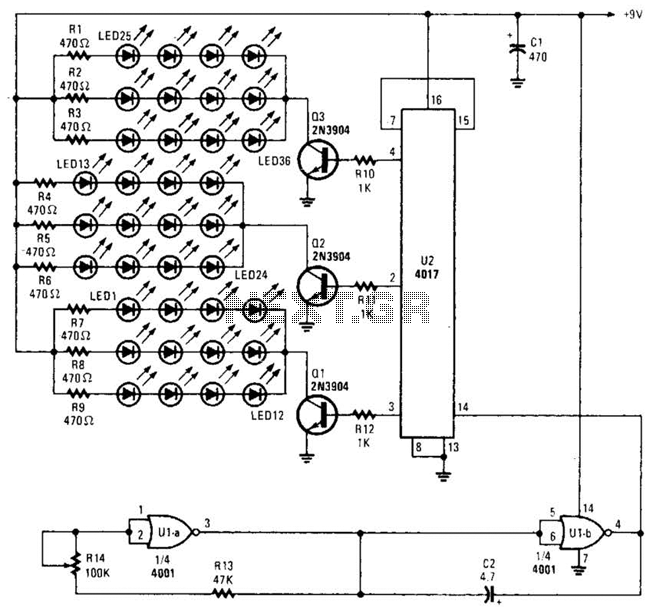 36 Led Flasher Driver Circuit