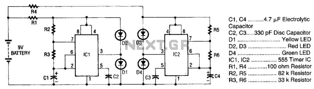 Super Led Flasher Circuit