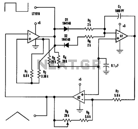 Function Generator With Lt1016 Circuit