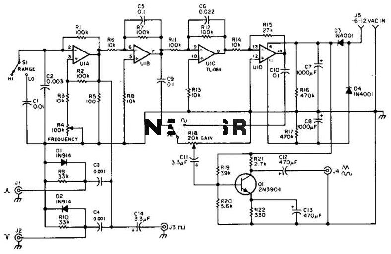 function generator circuit under varius circuits