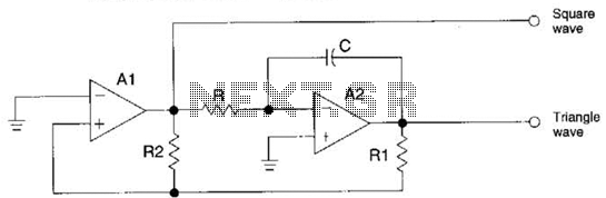 Triangle- And Square-Wave Generator Circuit - schematic