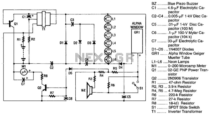 sensor radiation circuit   sensors detectors circuits