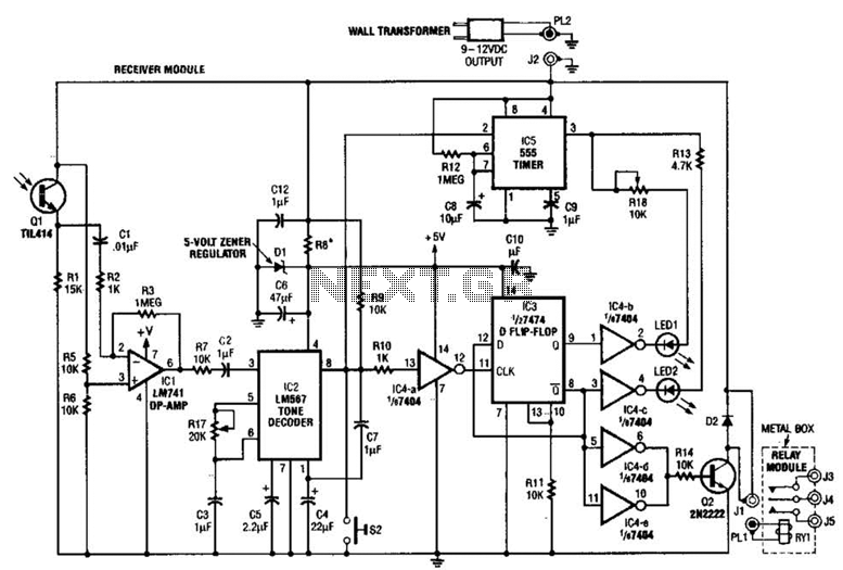 Ir-Controlled Remote A/B Switch Circuit