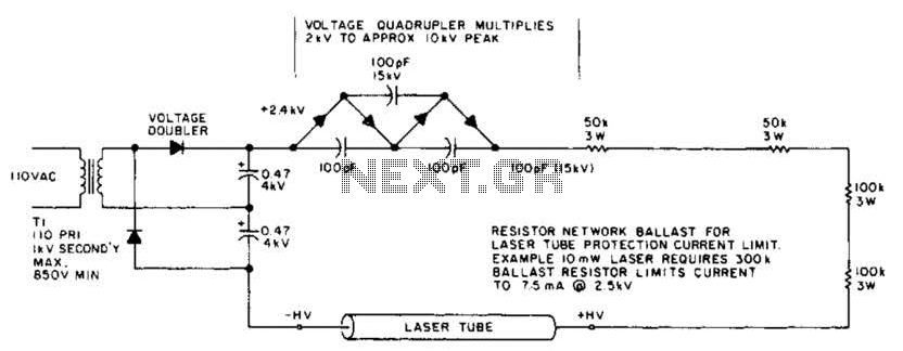 Laser Power Supply And Starting Circuit Circuit