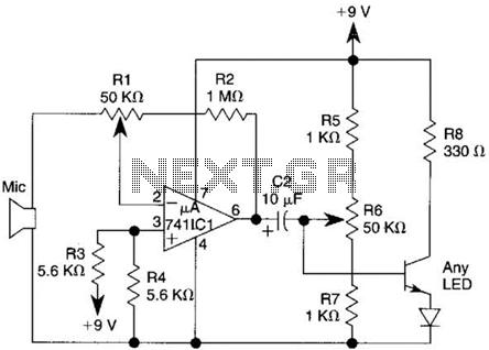 Light-Wave Voice-Communication Transmitter Circuit - schematic