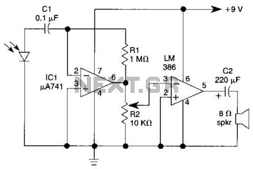 Light-Wave Voice-Communication Receiver Circuit - schematic