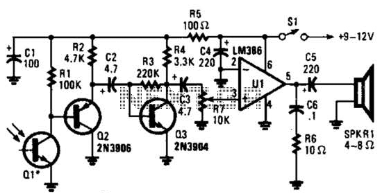 Visible-Light Receiver Circuit