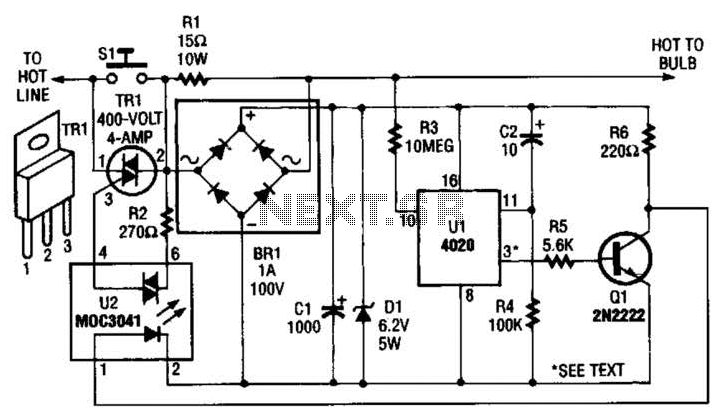 Automatic Porch-Light Control Circuit - schematic