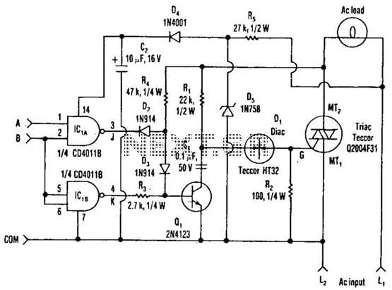 Three-Power-Level Triac Controller Circuit