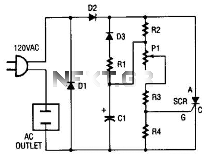 120Ac Shimmering Light Circuit - schematic
