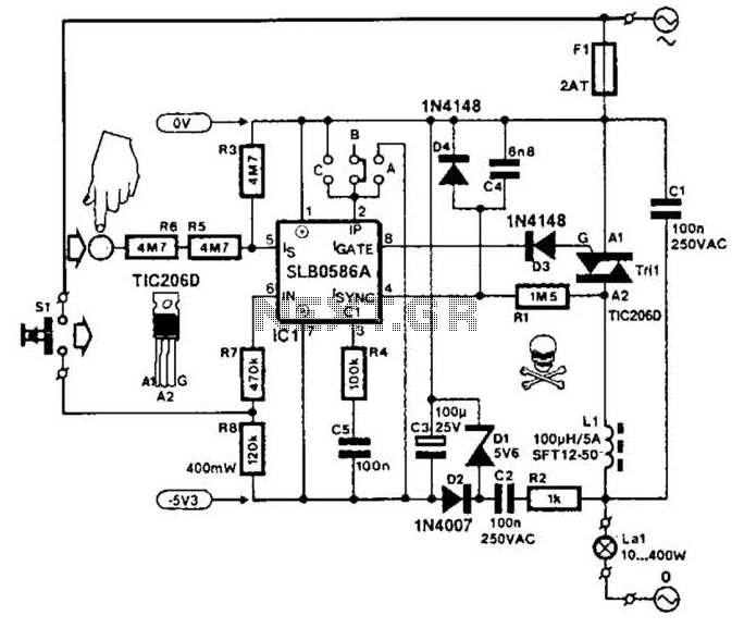 Cmos Touch Dimmer Circuit