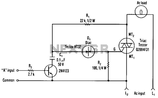 Sensitive Triac Controller Circuit