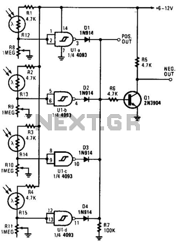 Light-Dependent Sensor For Multiple Inputs Circuit