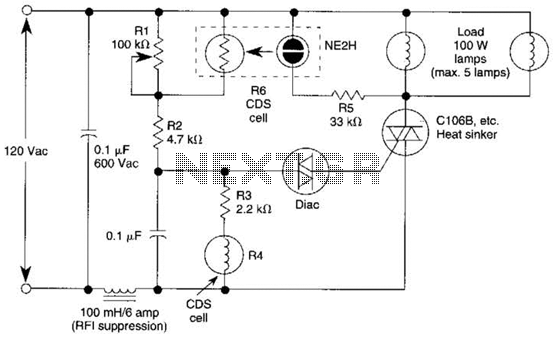 Outdoor Light Controller Circuit - schematic