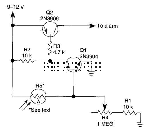 photoelectric sensor circuit under light sensing circuits