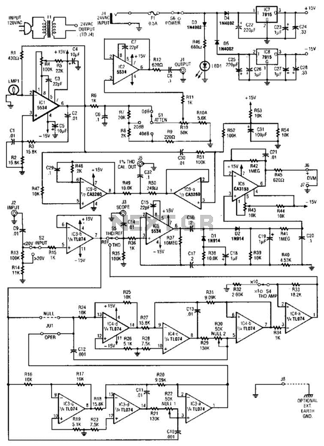 Harmonic Distortion Analyzer Circuit