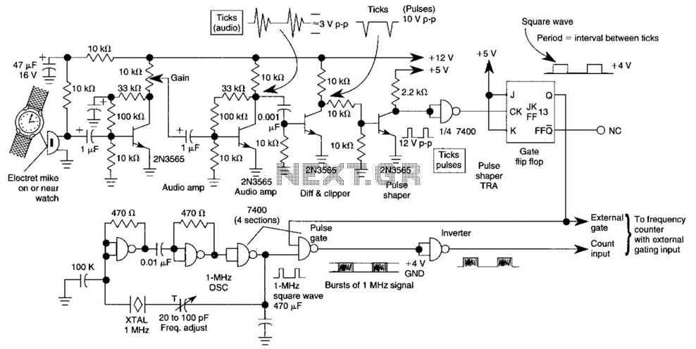 Watch Tick Timer Circuit - schematic