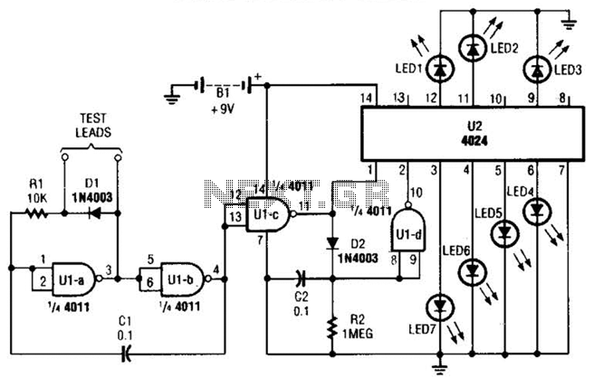 Visual Continuity Tester Circuit