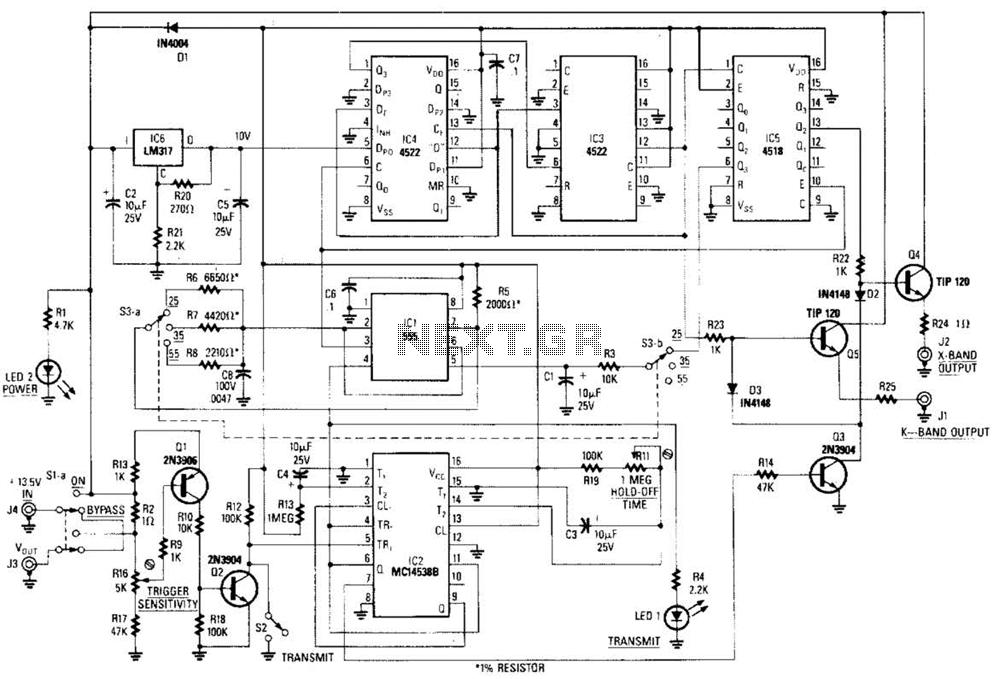 Radar Calibrator Circuit - schematic