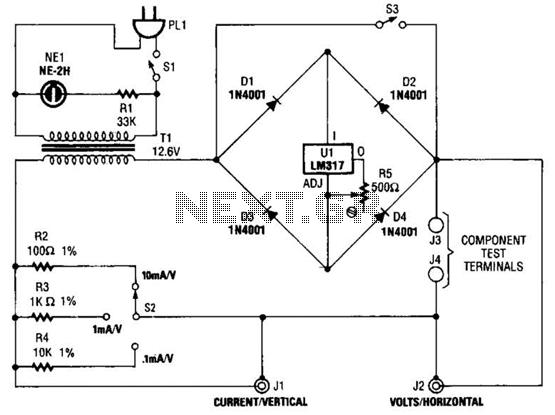 Gt meter counter meters simple curve tracer circuit