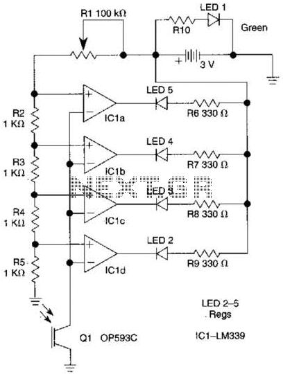 Light Meter Circuit - schematic