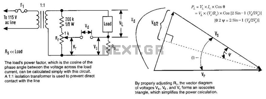 Ac Watts Calculator Circuit - schematic