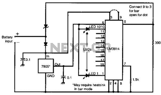 S Meter For Communications Receivers Circuit - schematic