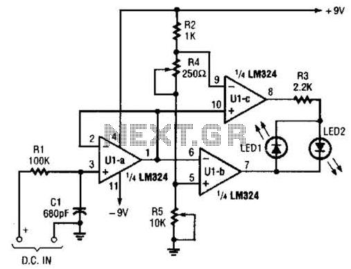Simple Short Finder Circuit - schematic
