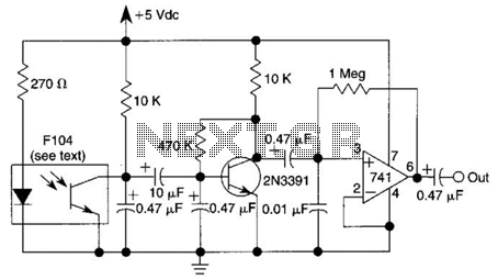 Heartbeat Monitor Circuit - schematic