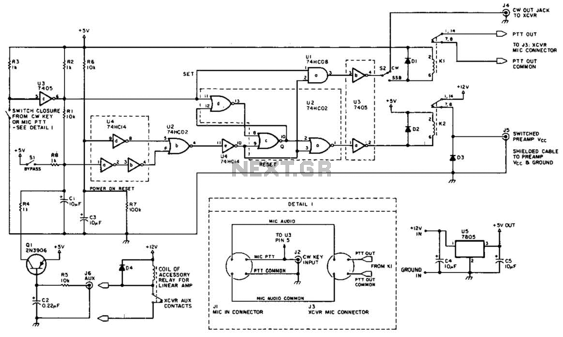 Preamp Transmit-Receive Sequencer Circuit