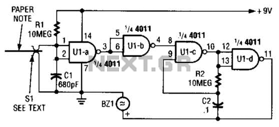 Audio Memo Alert Circuit - schematic