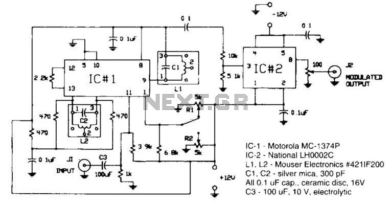555 Fm Circuit Circuit - schematic