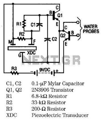 Moisture Detector Circuit - schematic