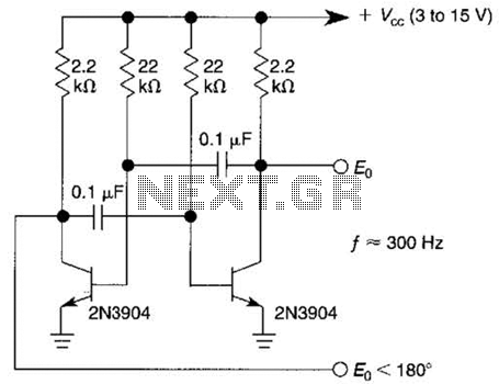 Astable Multivibrator Or Free-Running Square-Wave Oscillator Circuit