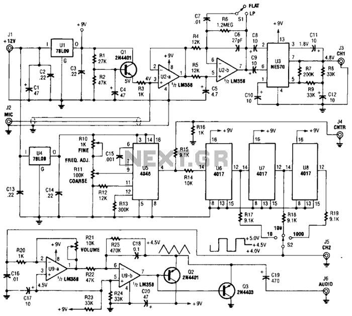 Precision Audio Generator For Musical Instrument Tune-Up Circuit