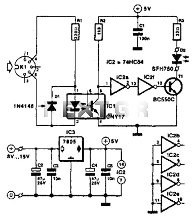 Musical Instrument Digital Interface (Midi) Transmitter Circuit