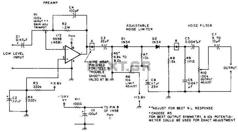 Receiver Af Noise Limiter For Low-Level Signals Circuit