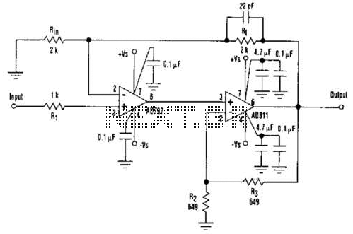 Fast Composite Amplifier Circuit - schematic