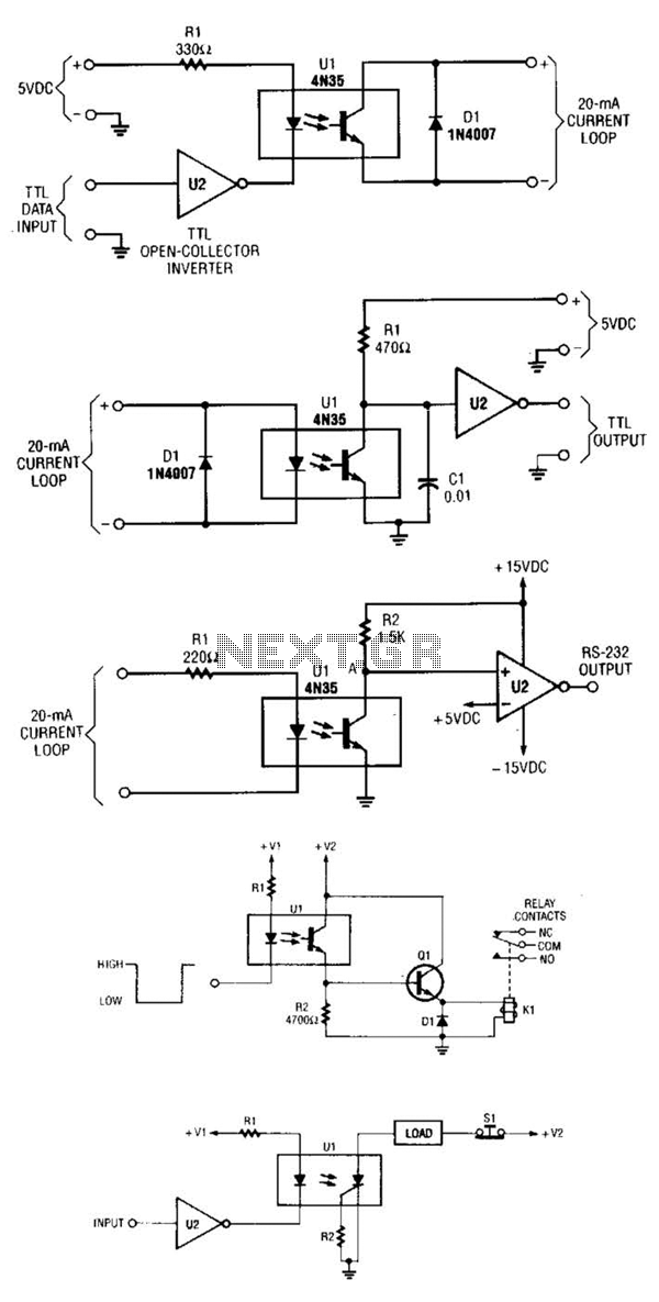Optoisolator And Optocoupler Interface circuits